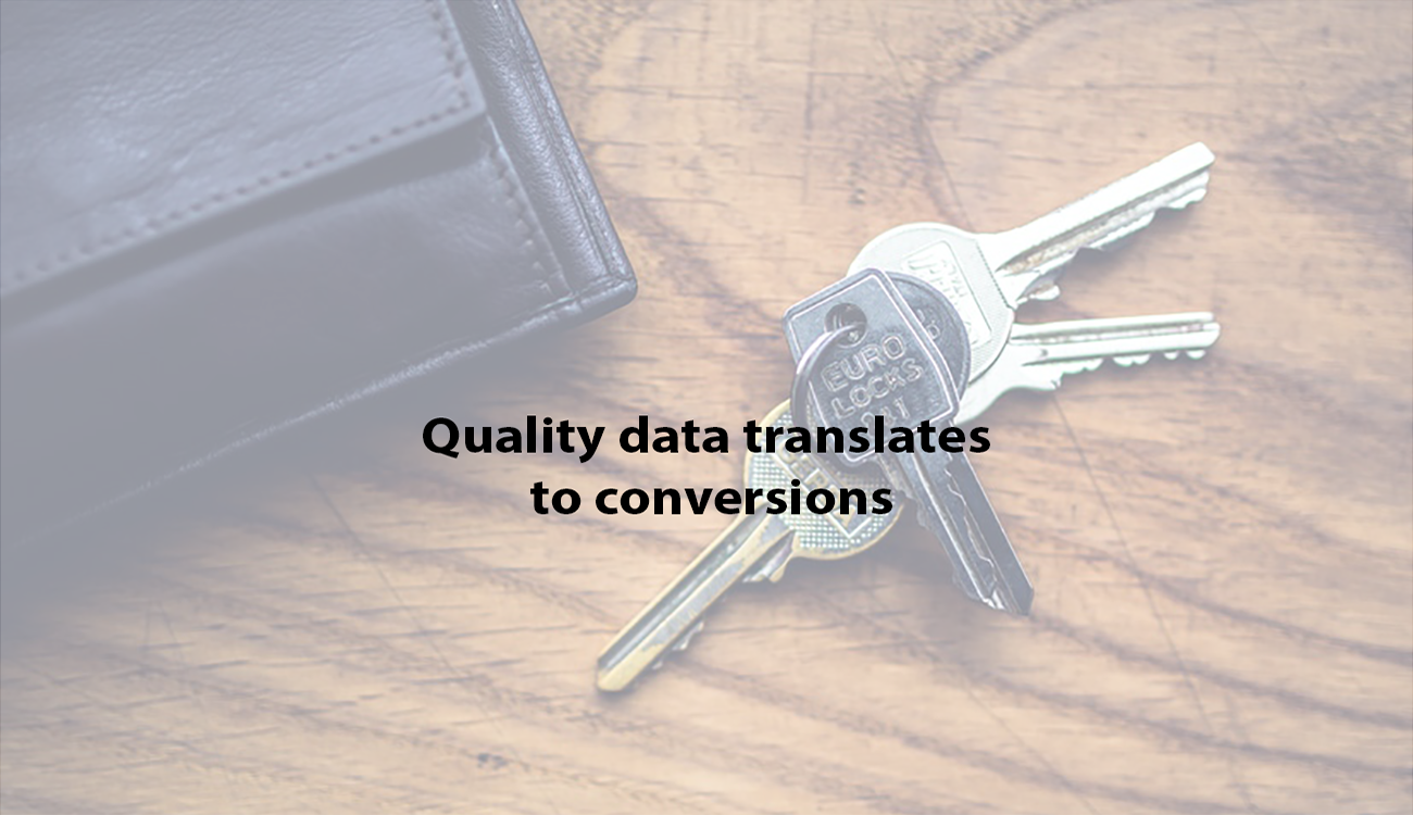 quality data translates to conversions
